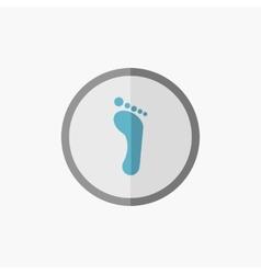 Foot Flat Icon vector
