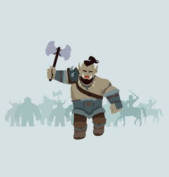 game object of orc vector image