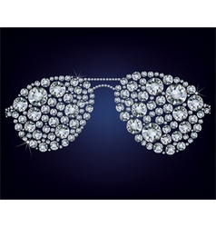 glasses made up a lot of diamonds vector image