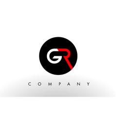 Gr logo letter design vector