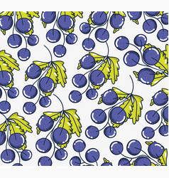 grapes pattern background vector image