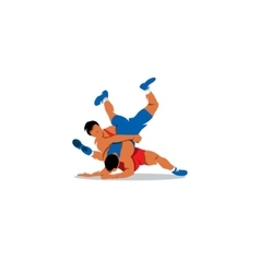 Greco Roman Wrestling sign Sports duel of two vector