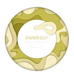 Green abstract layout - paper cut banner vector