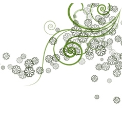 Green floral design vector image