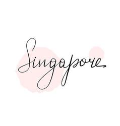hand written lettering inscription singapore vector image