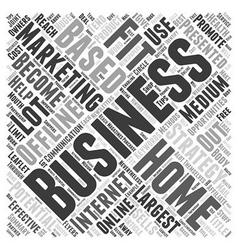 Home Based Business Offline Marketing Strategies vector