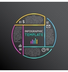 Infographic report template with line vector