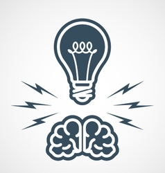 Intellectual property - power mind and ideas vector