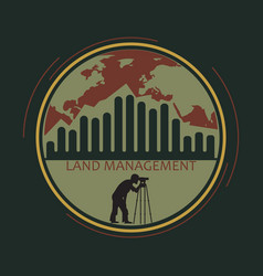 logo land management vector image