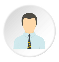 Man in business suit as user icon circle vector