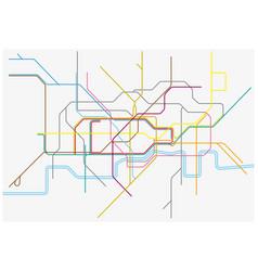 map london undergoundovergrounddlr and vector image