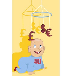 New financial year vector image