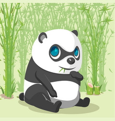 panda baby cute cartoon character vector image