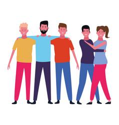 people friends cartoon vector image