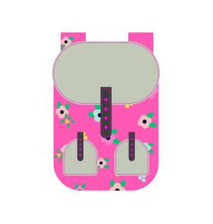 Pink backpack vector