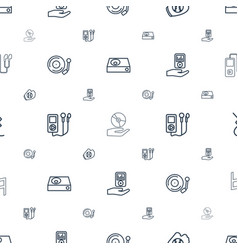 Player icons pattern seamless white background vector