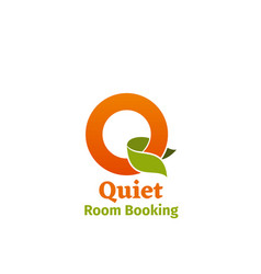 quiet room booking emblem vector image