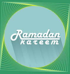 ramadan kareem text design background vector image