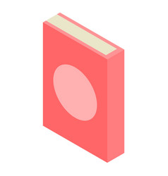 Red book icon isometric style vector