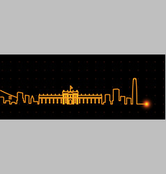 santiago de chile light streak skyline vector image