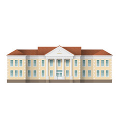 School building exterior vector