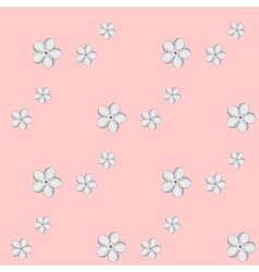 Seamless background with Almond or apricot flowers vector