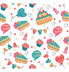 Seamless birthday pattern for print design vector