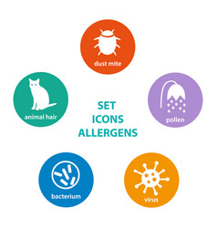 set icons allergen vector image