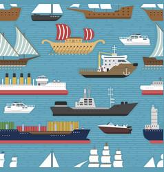 Ship cruiser boat sea vessel travel industry vector