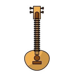 Sitar indian music instrument vector image