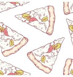 Slices of mozzarella seamless pattern vector image