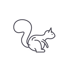 squirrel line icon concept squirrel linear vector image