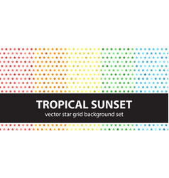 star pattern set tropical sunset seamless vector image