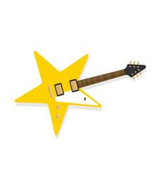 Star shaped electric guitar rockstar symbol vector