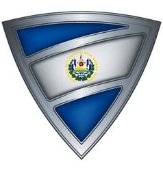 steel shield with flag el salvador vector image