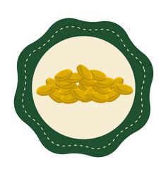 Sticker gold metal coins vector