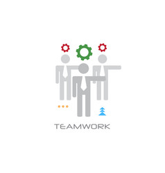 successful teamwork process concept businesspeople vector image