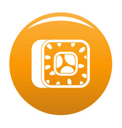 sushi icon orange vector image