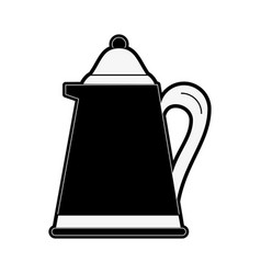 teapot drink isolated vector image