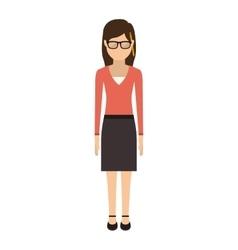 Teen with medium hair and skirt vector