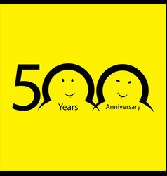 Th anniversary numbers years old yellow vector