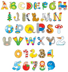 Toy font vector