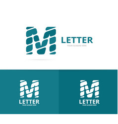 Unique letter m logo design template vector