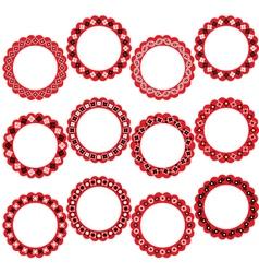 bandana circle frames vector image