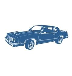 cartoon blue car vector image