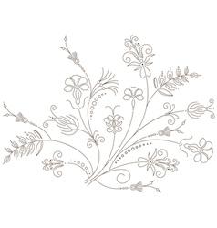 Floral ornament flower pattern vector image
