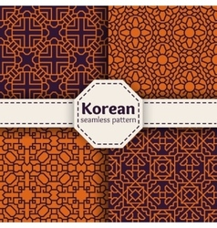 Korean or Chinese tradition seamless vector image