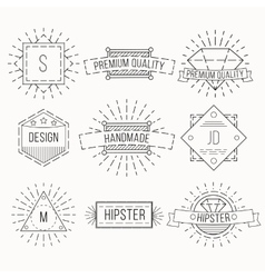 Outline badges and emblems template vector image
