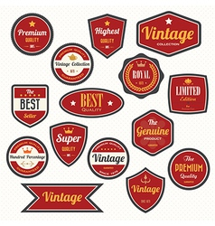 Set of retro vintage badges and labels eps10 vector image