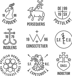 Ancient heraldry style emblems vector image